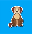 a simple dog sticker vector image