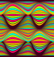 abstract seamless pattern bright colored wavy vector image