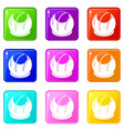 bakery icons 9 set vector image vector image