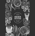 beer glass mug and hop design template hand drawn vector image vector image