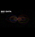 big data visualization algorithms with arc vector image vector image
