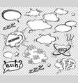 big set cartoon comic speech bubbles empty vector image