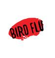 bird flu rubber stamp vector image vector image