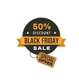 Black Friday shopping sale label vector image