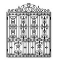 black metal gate vector image vector image