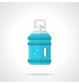 Bottled water flat icon vector image