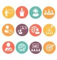 Business people meeting online and offline vector image vector image