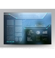 Business template page with blue abstract vector image