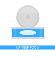 canned food isolated vector image vector image