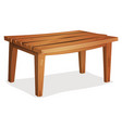 cartoon wood table vector image vector image