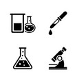 chemical simple related icons vector image vector image
