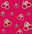 cherry background cartoons vector image