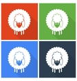Christmas sheep icons vector image vector image