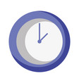 circle wall clock time object vector image