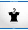 clothes for women web flat icon vector image vector image