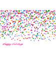confetti seamless pattern vector image vector image