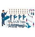 create your isometric character 3d man vector image vector image