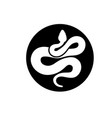 creative snake silhouette vector image