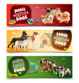 dog breeds banner set vector image vector image