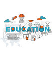 education banner background design concept vector image vector image
