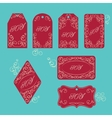 Elegant victorian swirl gift tag vector image vector image