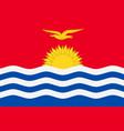 flag of kiribati vector image vector image