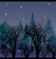forest at dusk landscape with the first stars vector image vector image