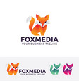 fox media logo design vector image vector image