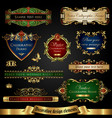 gold-framed decorative design elements vector image vector image