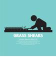 Grass Shears vector image vector image