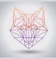 hipster polygonal animal fox triangle animal vector image vector image