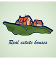 House abstract real estate concept design Realty vector image