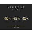 Icon fish Emblem sea fish for menu design vector image