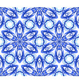 kaleidoscopic pattern blue flower vector image vector image