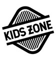 kids zone stamp on white vector image