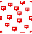 like vith heart icons background social vector image vector image
