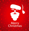 logo Santa Claus on a red background vector image
