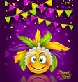 mardi gras carnival party flyer bunting vector image vector image