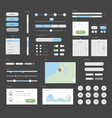 mega ui for desktop or apps interface design vector image vector image