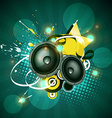 music artwork design vector image vector image