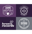 music production studio logos set Musical vector image vector image