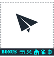Paper plane icon flat vector image