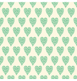 pattern with blue hearts vector image vector image