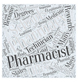 Pharmacy Schools A Closer Look Word Cloud Concept vector image vector image