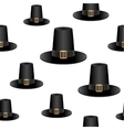 Pilgrim hat background vector image vector image