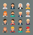 professions avatars businessman doctor teacher vector image