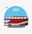public transport vehicle travel vector image vector image