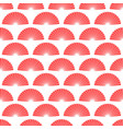 red hand fan seamless pattern asian fans vector image vector image