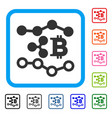 ripple bitcoin trends framed icon vector image vector image