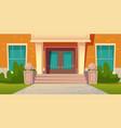 school entrance building college campus facade vector image vector image